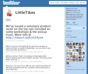 Little Tikes Twitter