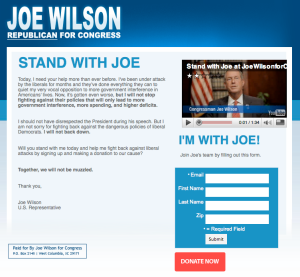 Joe Wilson's Campaign Website