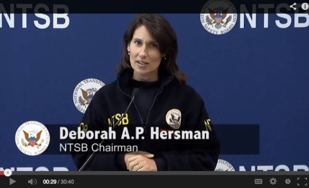 NTSB Chair Deborah Hersman briefed the media